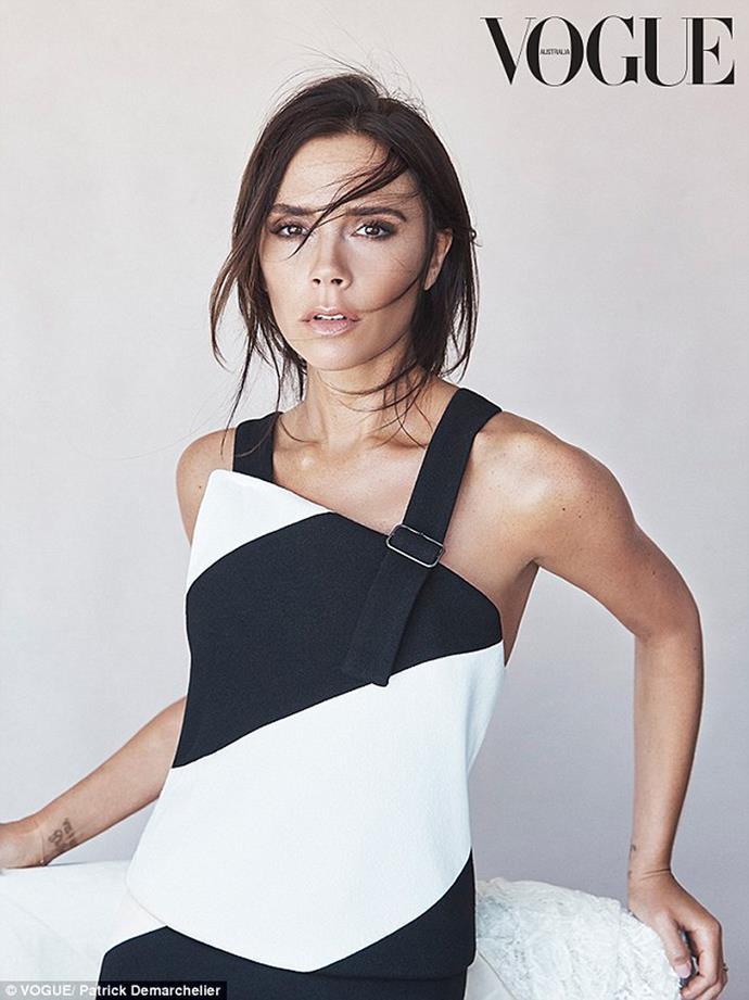 Victoria in her Vogue spread.