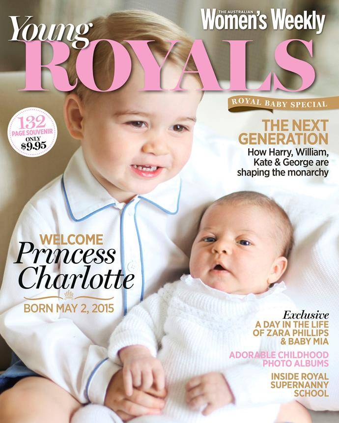 To welcome Princess Charlotte, we've released our brand new *Young Royals* mag - in stores now!