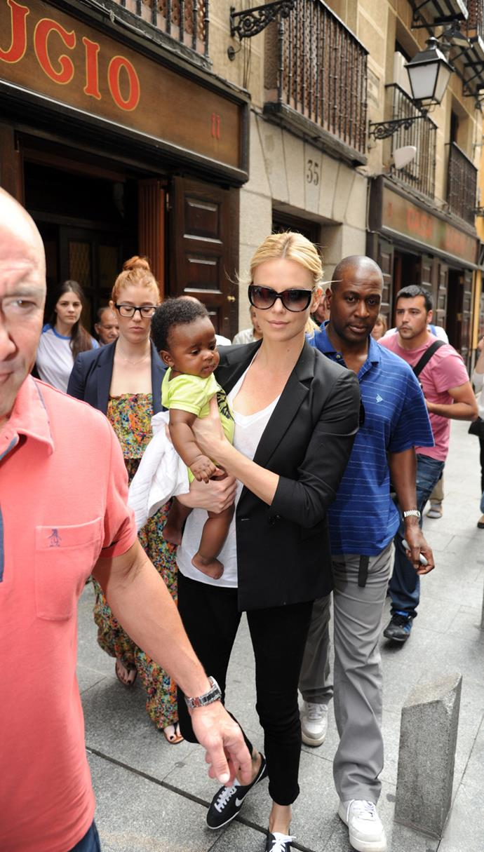 Charlize Theron adopted her son Jackson in March 2012.