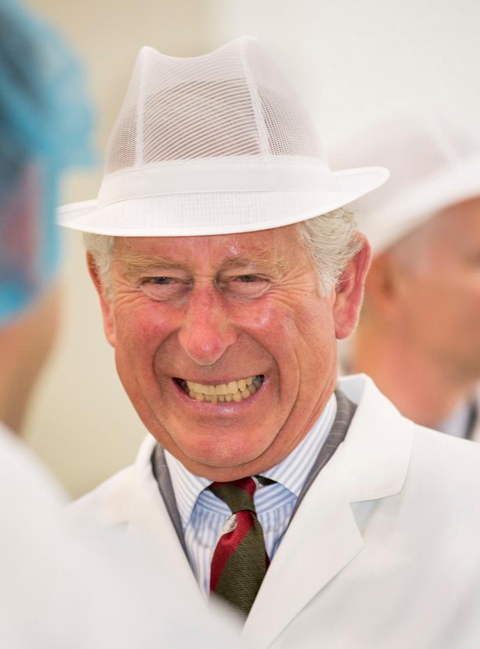And judging by the look on his face, we think the Prince of Wales might just been busted trying to sneak a sweet treat.