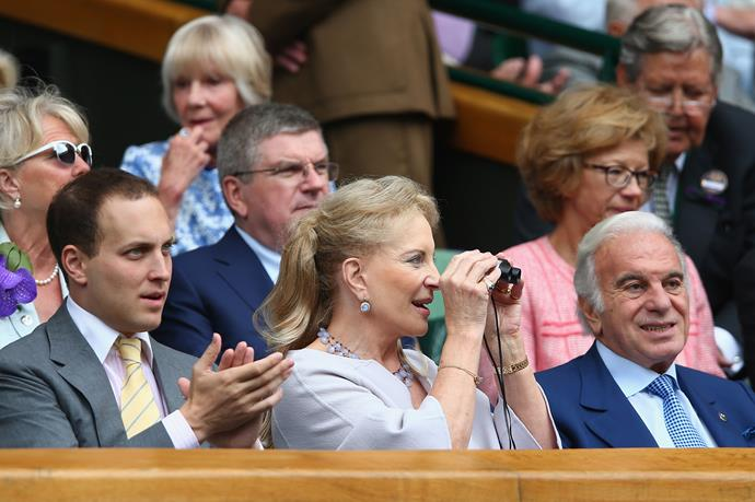 And she wasn't the only royal(ish) person there - Princess Michael of Kent was in attendance, sans her eyepatch.