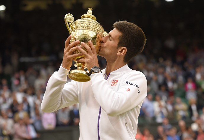 Getting up over Federer, Djokovic took home the Wimbledon title for the third time.