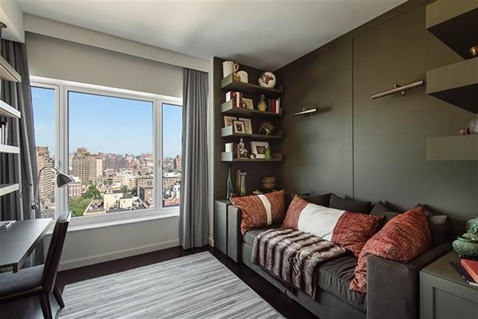 """The two bedroom, two bathroom apartment was decorated by interior expert Mark Zeff who told Elle that he """"wanted to create a place that would give her a sense of grace and harmony."""""""
