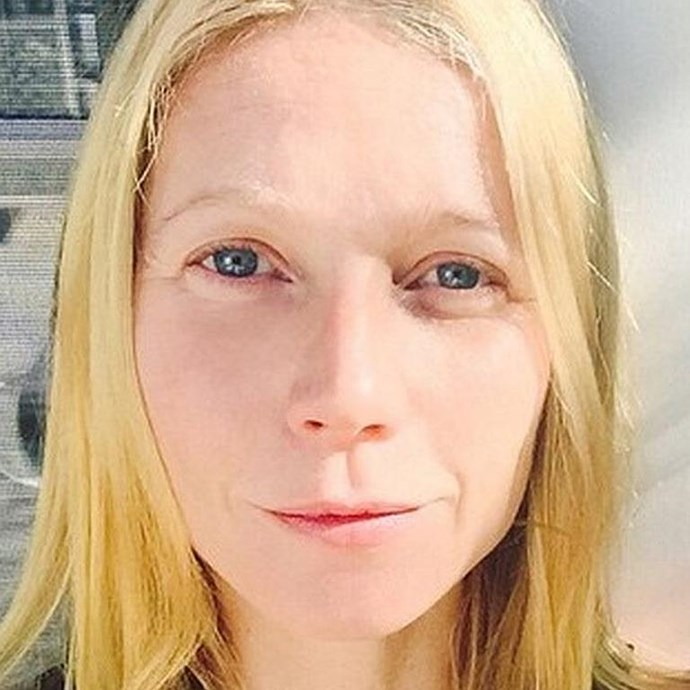 Refreshed and revitalised Gwyneth Paltrow basks in the sunlight, without a trace of make-up to be seen.