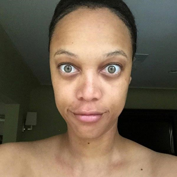 We've ALL been Tyra Banks when taking a no-make-up selfie.