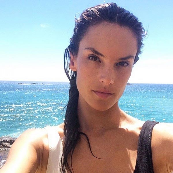 Does Alessandra Ambrosio even need to wear make-up with skin this  untouched? It's amazing what wearing sunscreen can do for your skin...