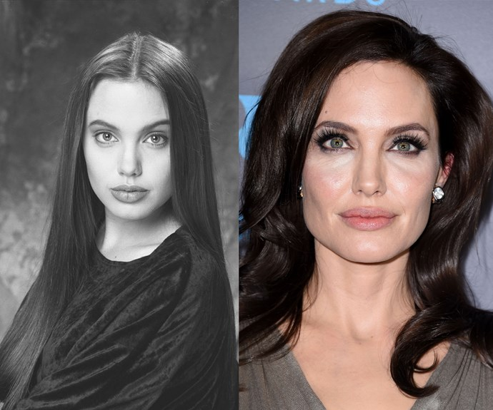 Angelina Jolie aged 16 and 40.