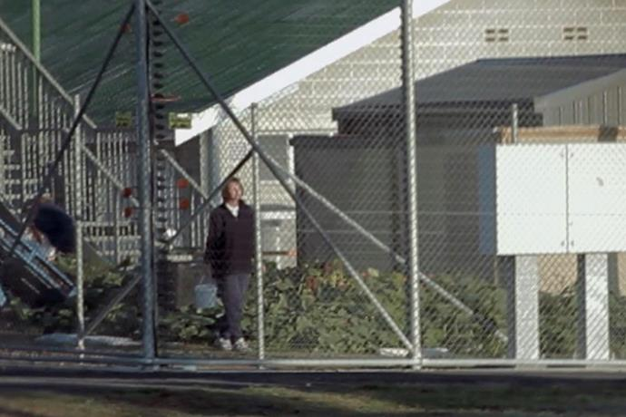 Neill-Fraser in jail in a scene from the documentary, *Shadow of Doubt.*