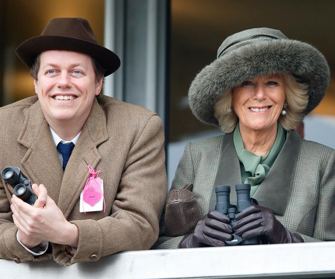 Camilla with son Tom Parker-Bowles.