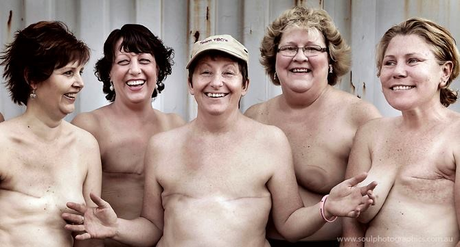 Breast cancer survivors and victims. Photography by Suzanne McCorkell.