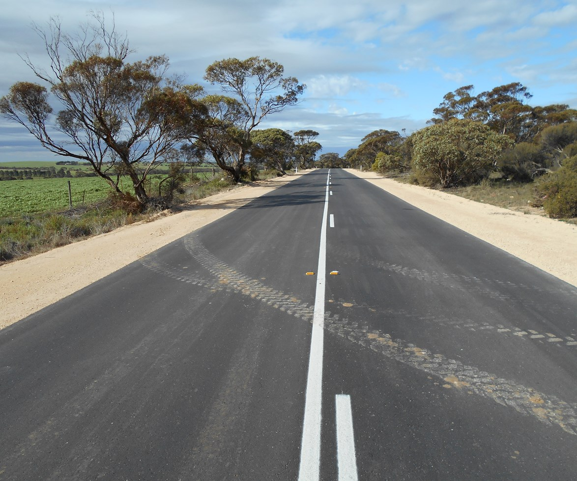 Karoonda Highway where the suitcase was found.