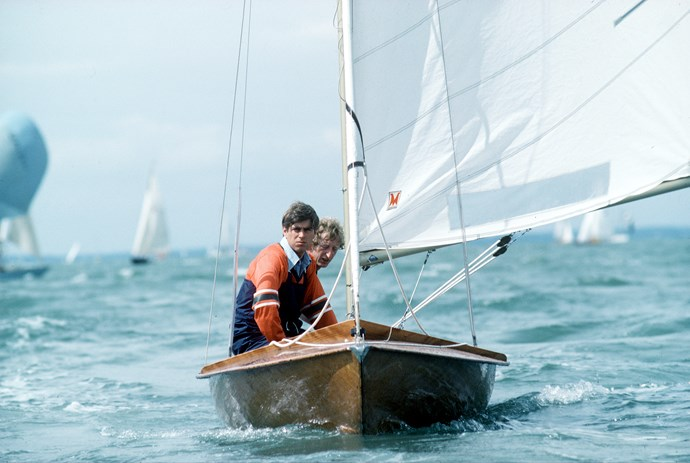 Prince Andrew certainly looks at home on the water!