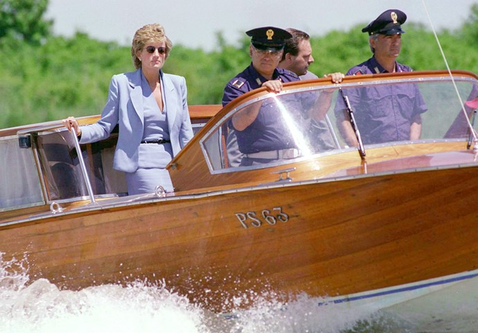 But Prince William got it from his mama! Diana, Princess of Wales, was a expert boat-rider.