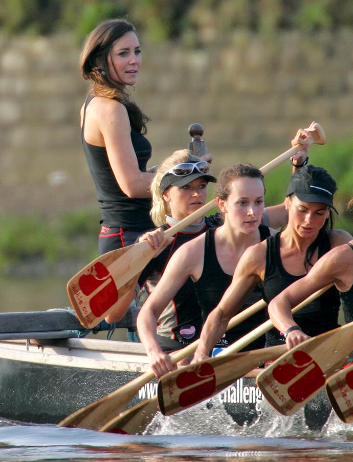 Duchess Kate may have gotten her sailing talent from her days as a rowing Coxswain during her youth...