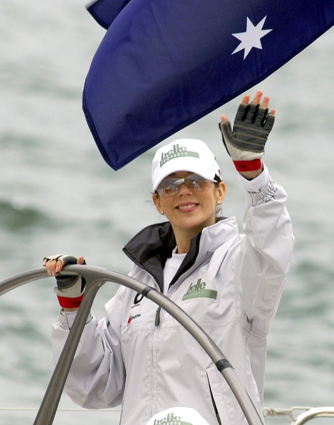 Our own Princess Mary is an able sailor, as well! Rocking a pair of seriously retro silver glasses, the Aussie Princess tried her hand at sailing in Sydney Harbour!