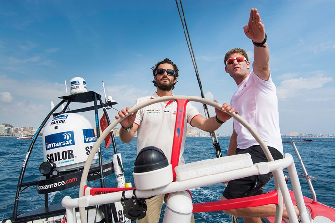 In addition to formula one racing, Sweden's Prince Carl Phillip is also a deft sailor.