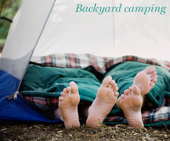 **Backyard staycation.** Want the cheapest holiday ever? Pick up the biggest tent you can get your hands on (we recommend calling up friends to borrow), fill it up with pillows, snacks, a homemade projector, and fairy lights and spend a sweet weekend in your own backyard. No traveling needed.
