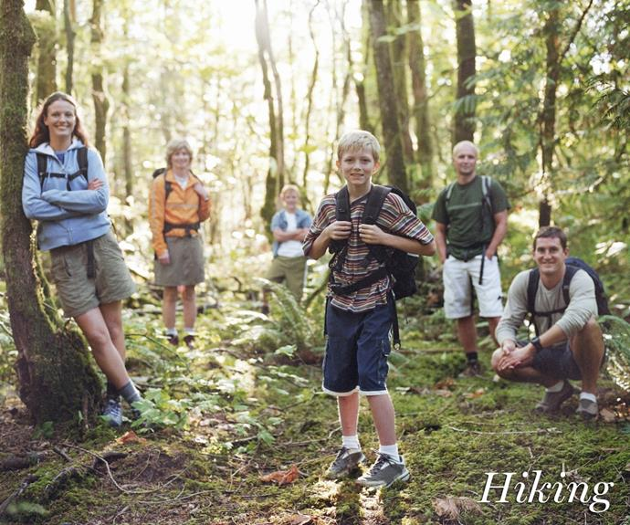 **Walking/hiking.** If you've got older kids in need of stretching their legs and you don't balk at the idea of an exercising holiday, why not plan a hiking trip? Research your state's best hiking or walking trails, pack your bags and hit the trail. To spice it up, engage in some group activities like recreating your own 'Amazing Race' or completing daily activities.