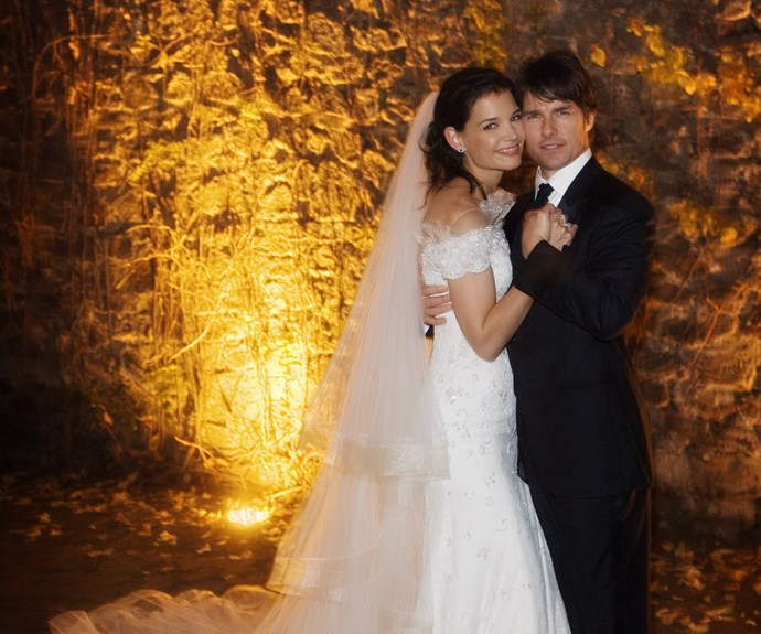 Tom at his third wedding to actress, Katie Holmes.
