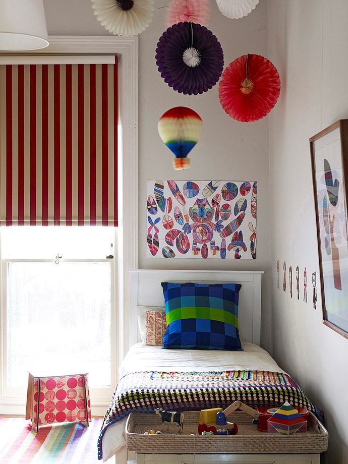 **Play with Pattern.** Mix different patterns to create a bright and eclectic room – mixing different patterns such as stripes, spots and checks can add layers of interest and fun.  *Image / Derek Swalwell*