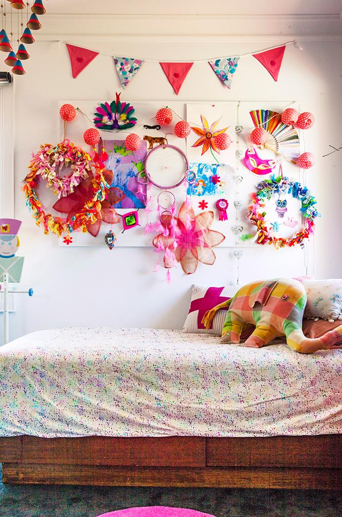 **Colour Burst.** Sometimes more is more, especially in a children's room. Use bursts of bright colour through handmade artwork, paintings, bunting and bedding.  *Image / Scott Hawkins*