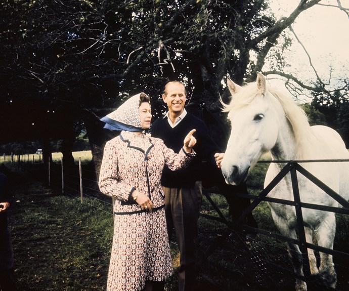 Elizabeth and Philip in Balmoral.