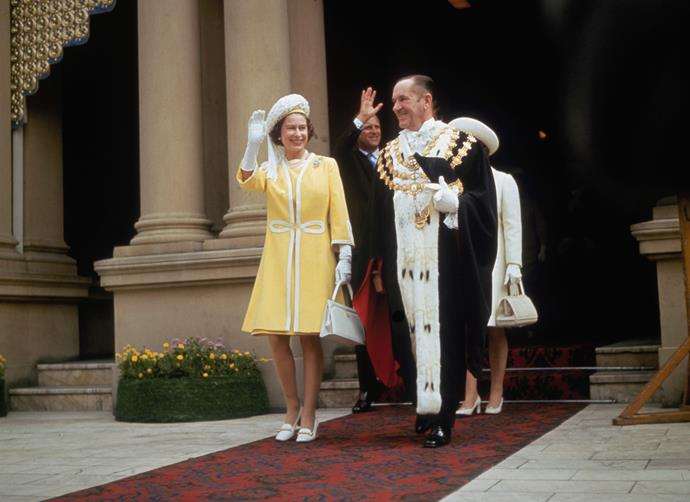 Queen Elizabeth and Prince Philip on their tour of Australia in 1970.