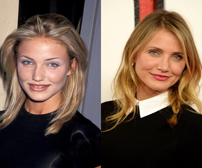Cameron Diaz, 43, looks incredible at any age. Here is the actress turned author decades apart but you'd hardly tell.