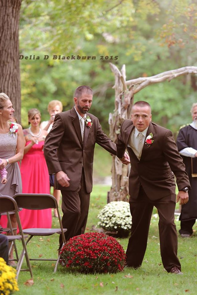 """For me to thank him for all the years of helping raise our daughter wouldn't be enough. There is no better way to thank somebody than to assist me walking her down the aisle,"" said Todd / Image via [Delia D Blackburn](https://www.facebook.com/Delia-D-Blackburn-Photography-673664349370045/timeline/