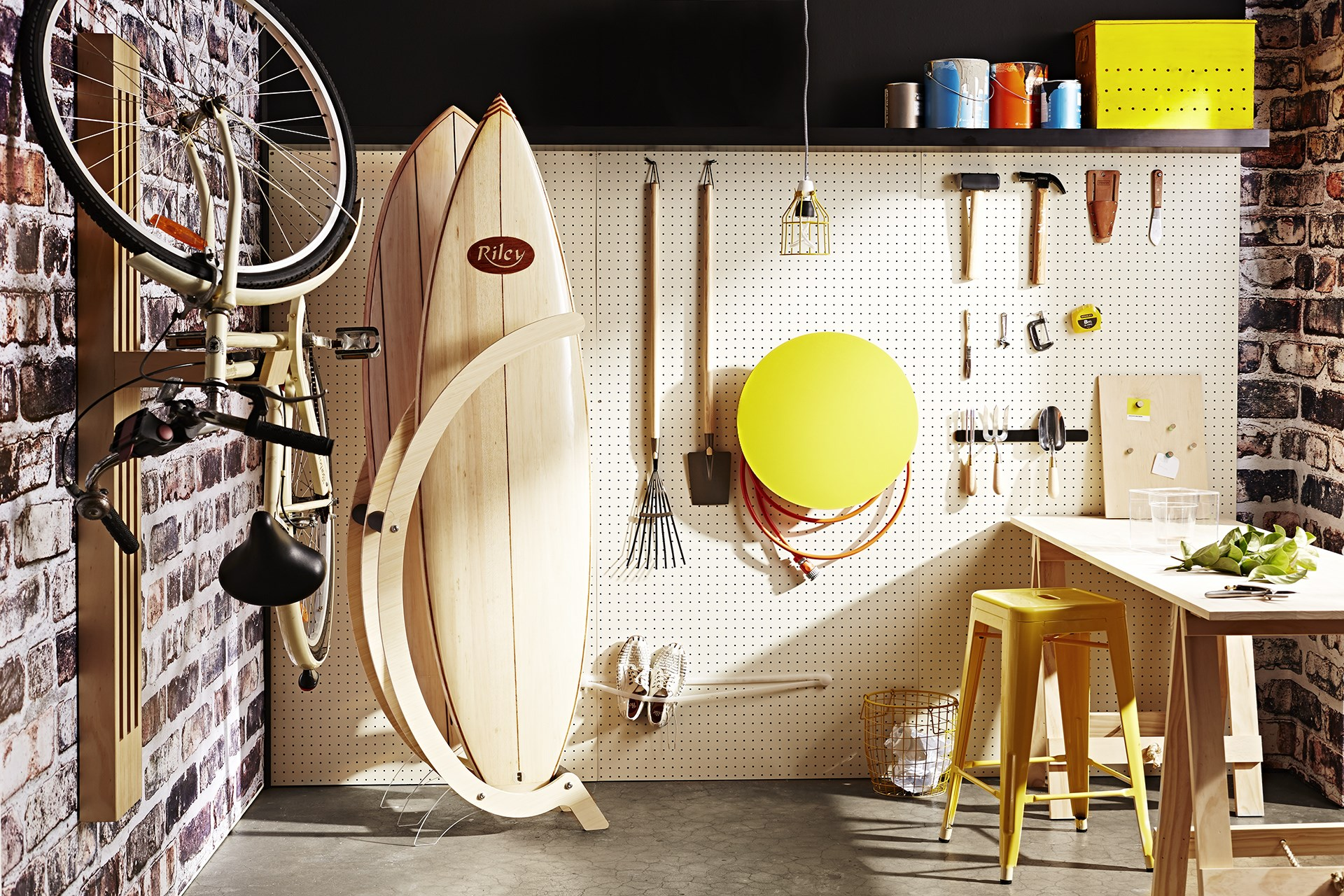 """Get your garage organised with [ingenious storage solutions](http://www.homestolove.com.au/space-saving-garage-storage-solutions-1611 target=""""_blank"""") that will enable you to use the space to its full potential. Photo: Brett Stevens / *Australian House & Garden*"""