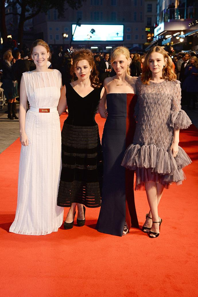 Actresses Romola Garai, Helena Bonham-Carter, Ann-Marie Duff and Carey Mulligan were in attendance.