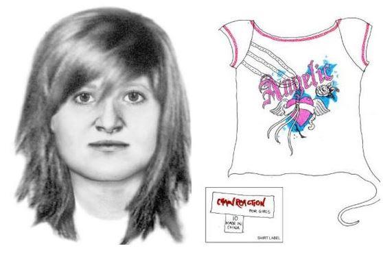 Sketches of woman (and t-shirt found beside her) discovered in Belanglo State Forest.