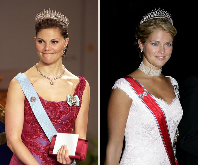 Sparkle sisters! Sweden's royal princesses, Crown Princess Victoria and Princess Madeleine, like a bit of shine every now and then.