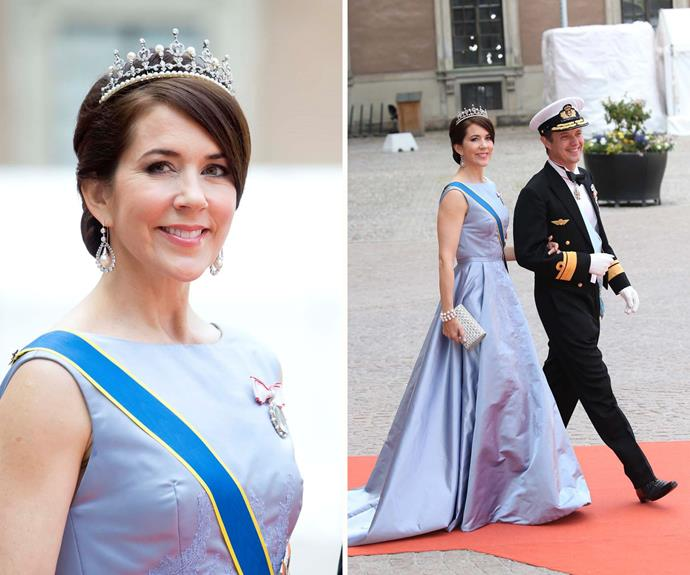 Perhaps she learnt from the best! Princess Mary knows how to put on a good show.