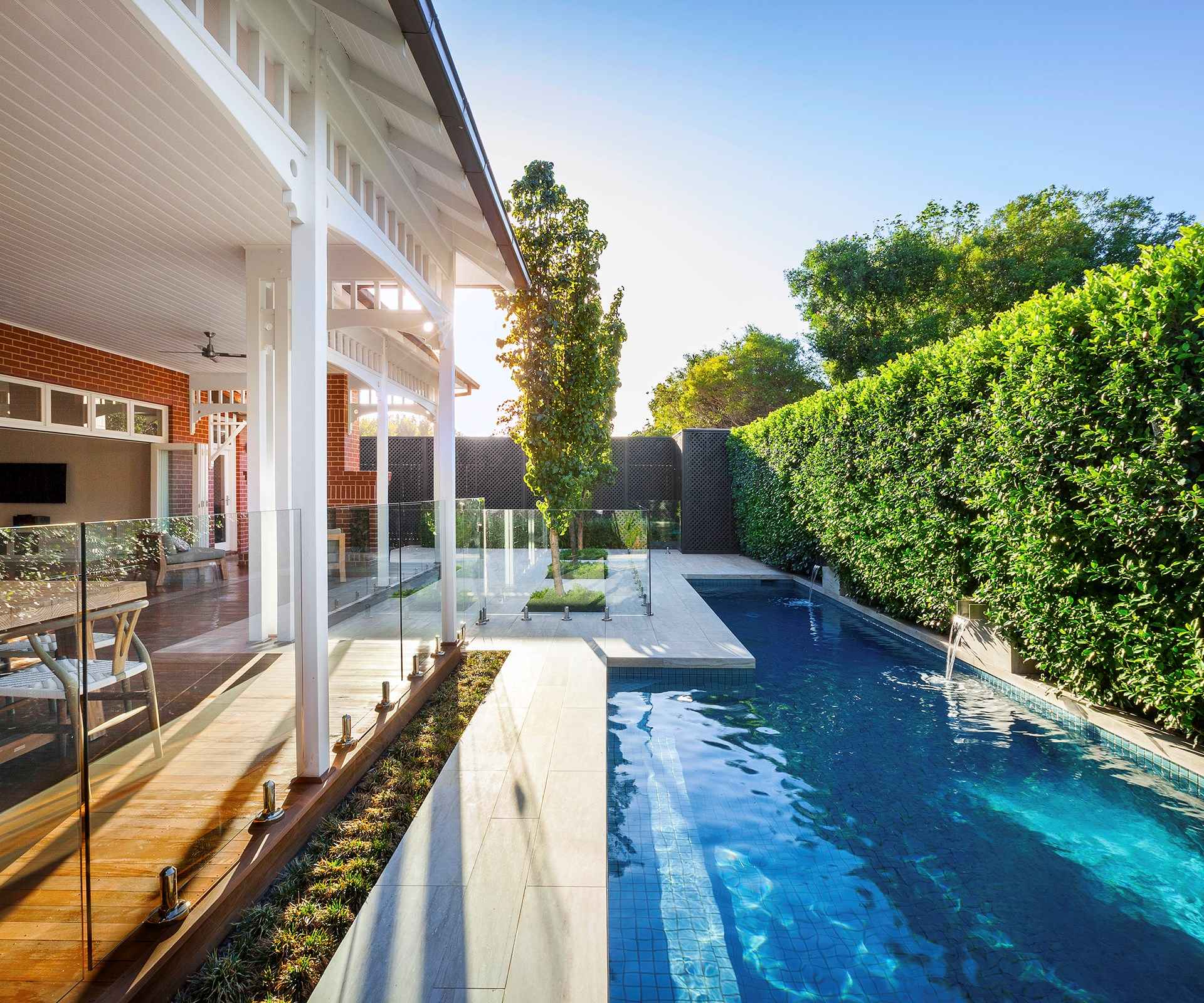 "If you do decide to invest, make sure your new pool is a real showstopper. Find out more about new [cutting-edge technology](http://www.homestolove.com.au/cutting-edge-swimming-pool-design-1951/|target=""_blank"") that is pushing design boundaries in backyards across Australia. Photo: Chris Warnes / *Australian House & Garden*"