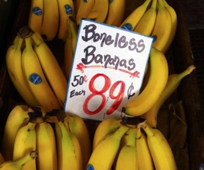 Have we been eating bone-filled bananas our whole lives?!