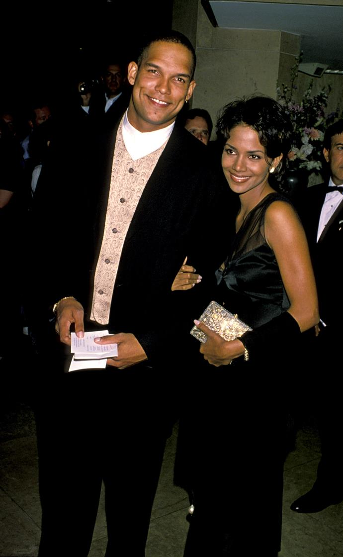 **David Justice**: in 1993, Berry married the baseball player. By their third wedding anniversary, they split. The actress filed for a restraining order against the athlete in October 1996, after her reportedly stood outside of their Hollywood Hills home threatening entry.