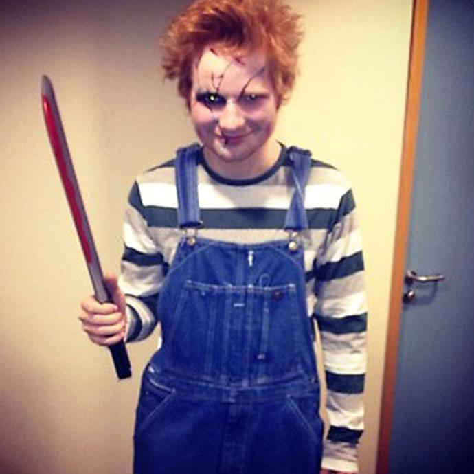 Ed Sheeran looks a little too comfortable as evil child, Chucky