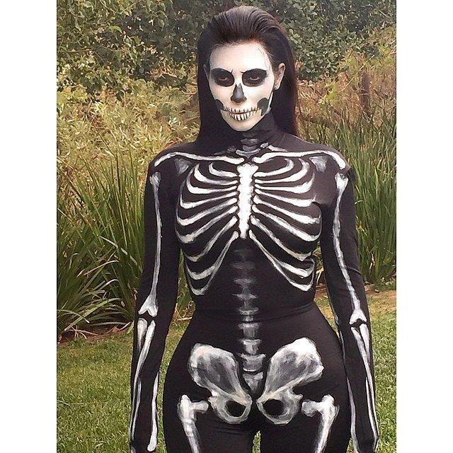 Here's Kimmy again as a skeleton.