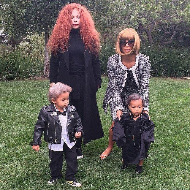 Kim Kardashian is Anna Wintour and North West is her fashionable sidekick Andre Leon Talley. Too cute!