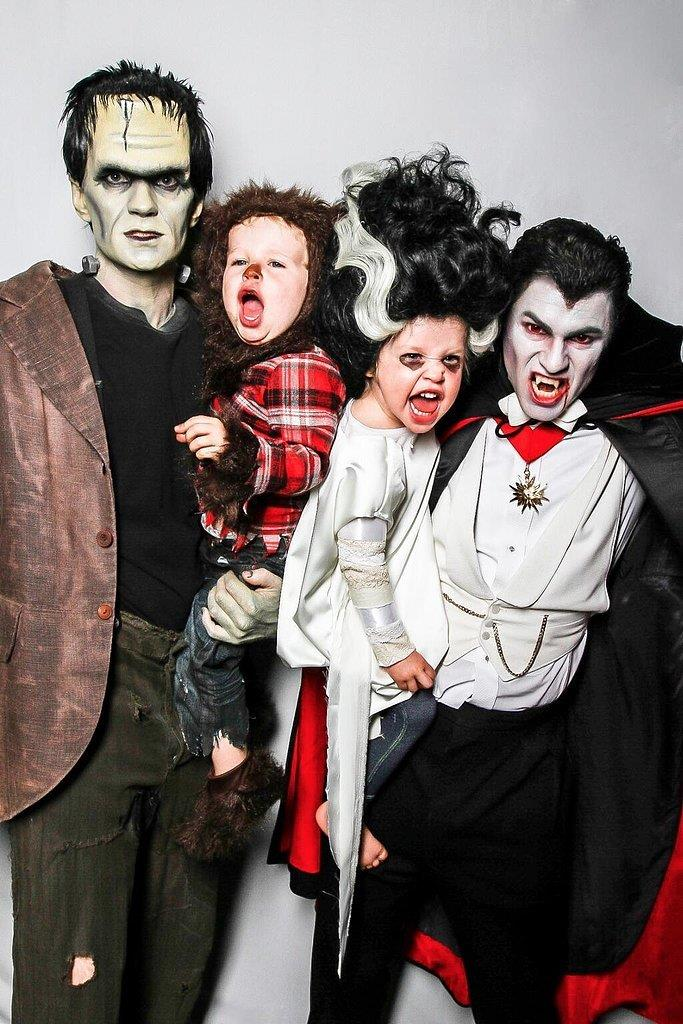 Neil Patrick Harris and his adorable family raise the costume stakes every year! Here they are as Frankenstein, Wolfman, Bride of Frankenstein and Dracula.