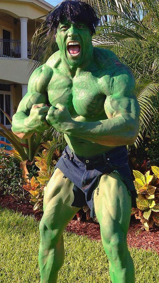 The Rock as The Incredible Hulk. It's a Halloween match made in heaven.