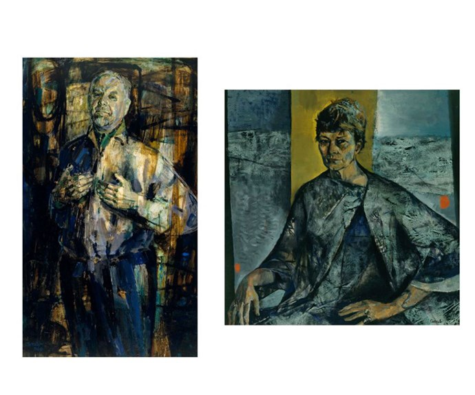 Cassab's two Archibald Prize winning portraits.