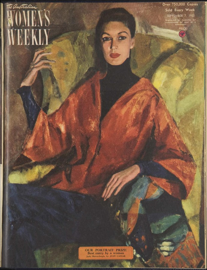 Cassab's portrait of Judy Barraclough on the September 7, 1955 cover of The Weekly.