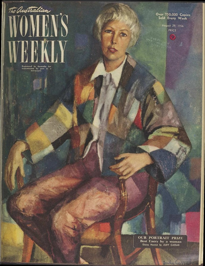Cassab's portrait of Elaine Haxton on the August 29, 1956 cover of The Weekly.