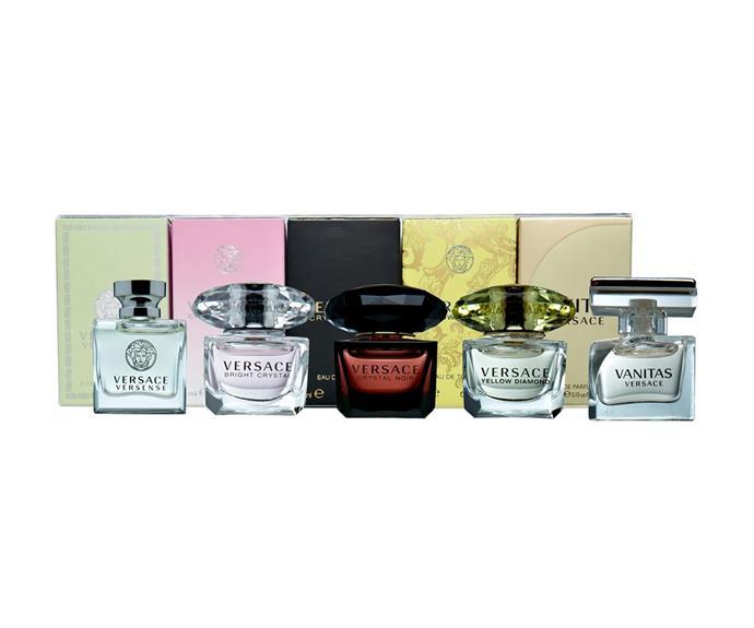 This gift set contains five different Versace fragances. **$59** [Versace](https://www.priceline.com.au/versace-women-s-miniature-set-5-pack).
