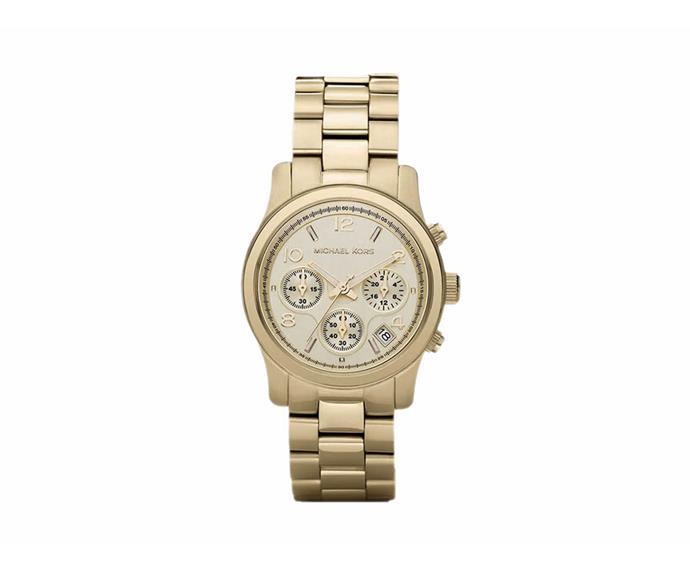 A beautiful gold watch. **$399**[Michael Kors](http://www.myer.com.au/shop/mystore/watches/michael-kors-mk5055-watch)