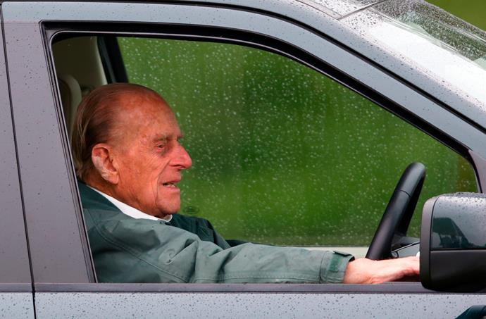 To avoid arriving late, Prince Philip has given his valet the task of feeding him sandwiches while he drives.