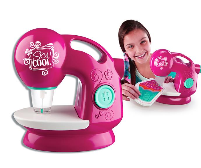 """The [Sew Cool Threadless Sewing Machine, $59,](http://www.toysrus.com.au/sew-cool-sewing-machine_10486288/
