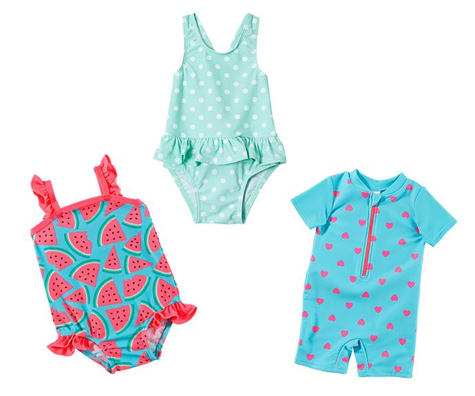 """These sweet target cossies, featuring cute prints like [watermelons](http://www.target.com.au/p/girls-one-piece-bathers-watermelon/58069639